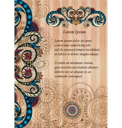 Doodle paisley poster for your business vector