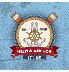Nautical emblem vintage vector