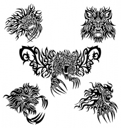 Tattoo lions vector
