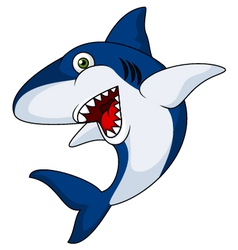 Smiling shark cartoon vector