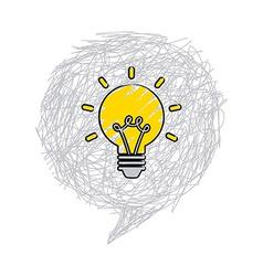 Bulb idea vector