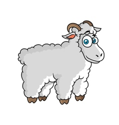 Cartoon farm sheep character vector