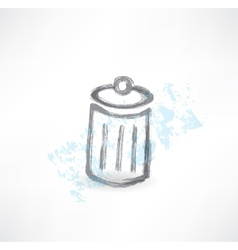 Garbage grunge icon vector
