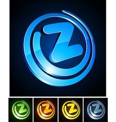 Vibrant 3d z letter vector