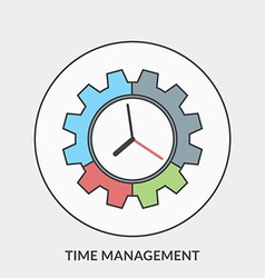 Flat design concept for time management for vector