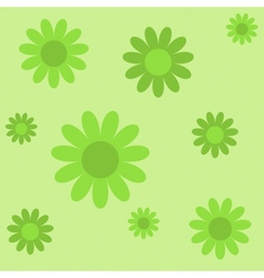 Green flowers on green texture background vector
