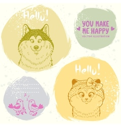 Animals grang set vector
