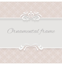 Paper lace background ornamental frame vector