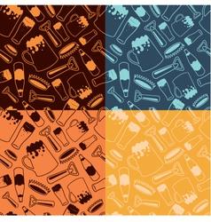 Beer patterns vector
