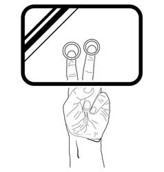 Web icon hand touchscreen interface vector