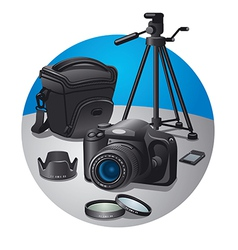 Photography equipment vector