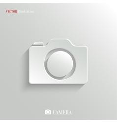 Camera icon - white app button vector