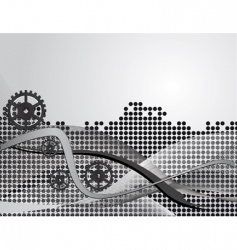 Gray abstract background with gears vector