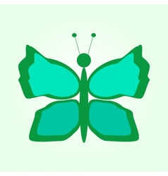 Green butterflies in graphic style vector