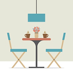 Flat design interior dining room vector
