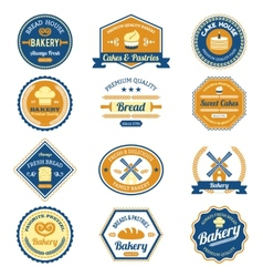 Cupcake bakery labels vector