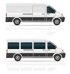 Mini bus 03 vector