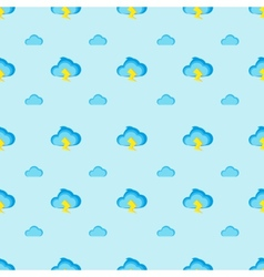 Flat modern cartoon clouds seamless pattern vector