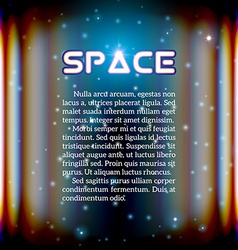 Space background with lightened corridor vector
