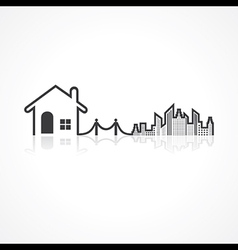 Real estate background for sale property concept vector