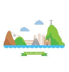 Rio de janeiro flat background vector