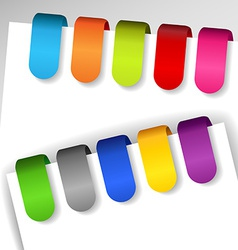 Colorful paper tags vector