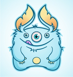 Hungry blue monster vector