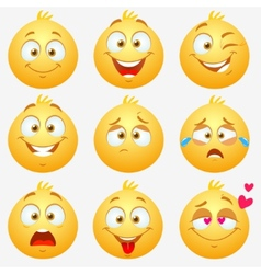 Emotions smilies vector