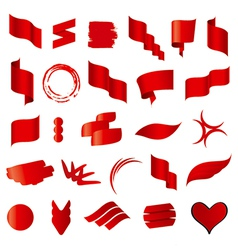 Biggest collection of red flags vector