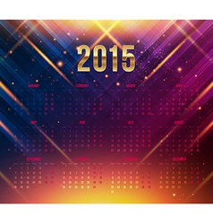 2015 year calendar bright dynamic background vector