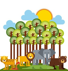 Animals cute vector