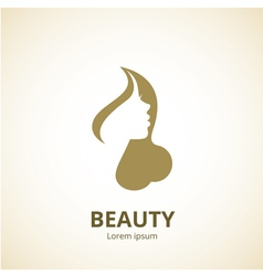 Woman face logo template vector