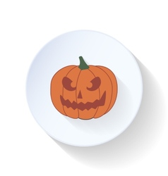 Halloween pumpkin flat icon vector