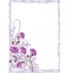 Grunge floral card vector