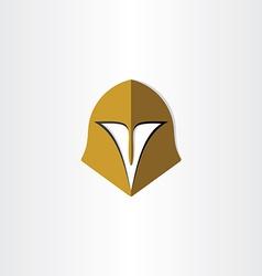 Gladiator helmet cap icon vector