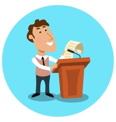Business manager making public presentation vector
