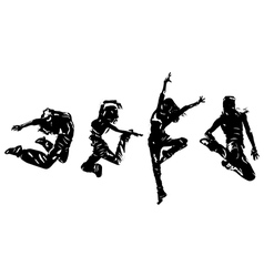 Women dancers vector