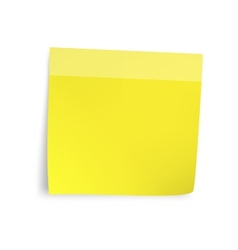 Yellow sticker paper note vector