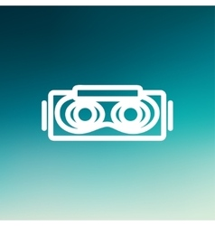 Virtual reality mask thin line icon vector
