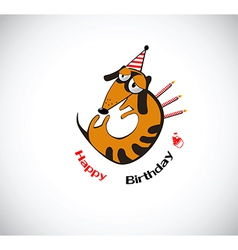 Happy dog birthday vector