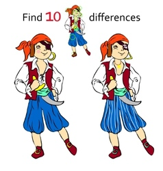 Find 10 differences pirate vector
