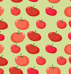 Background of red tomatoes seamless pattern of vector