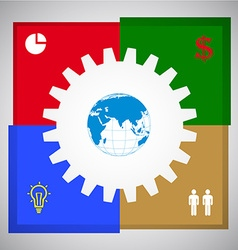 Business concept cooperation vector