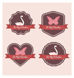 Valentine labels vector