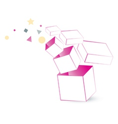 Magic box packaging vector