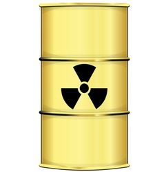 Barrel with radiation sign vector