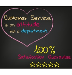 Customer service approach vector