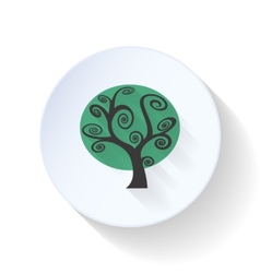 Gloomy tree flat icon vector