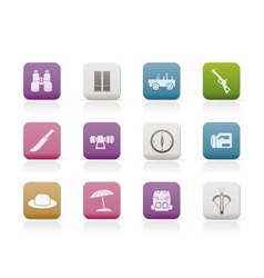 Safari and hunting icons vector
