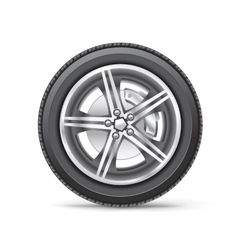 Car wheel vector